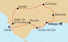 Andalusien Karte Flughäfen.Krautgartner Reisebüro Rundreise Andalusien Erleben