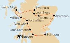 Loch Ness Karte.Krautgartner Reisebüro Highlands Whisky Loch Ness